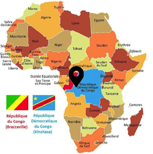Carte Afrique : Localisation : KASANGULU à 40 minutes de KINSHASA